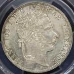 AUSTRIA Franz Josef I フランツ・ヨーゼフ1世(1848~1916) 2Florin 1869A PCGS-AU DetailsCleaned  洗浄 EF