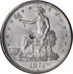 1874-CC美国贸易美元 PCGS MS 62