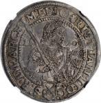 GERMANY. Saxony. 1/2 Taler, 1610-HvR. Dresden Mint. Christian II. NGC AU-53.
