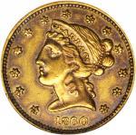 1860 Clark, Gruber & Co. $5. K-2. Rarity-4. AU-53 (NGC). OH.