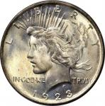 1923 Peace Silver Dollar. MS-64 (PCGS). OGH--First Generation.