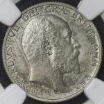 GREAT BRITAIN Edward VII エドワード7世(1901~10) Shilling 1902 NGC-PF63 Matte Proof UNC