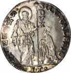 ITALY. Venice. Leone, (1694)-FT. Silvestro Valier (1697-1700). NGC MS-62.