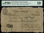Bank of England, Henry Hase (1807-1829), 1, London, printed date 14 April 1813, serial number 62753,