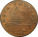 1787 New Jersey copper. Maris 29-L. Rarity-5. Outlined Shield. VF-30 (PCGS).