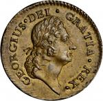 1723/2 Rosa Americana Halfpenny. Martin 3.5-D.1, W-1226. Rarity-5. Uncrowned Rose. MS-62 (PCGS).
