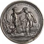 1781 (i.e. 1839) Daniel Morgan at Cowpens obverse trial. As Betts-593, as Julian MI-7. White metal.