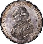 GERMANY. Wurttemberg. Pattern Taler, 1798. Friedrich III (1797-1816). NGC PROOF-62 CAMEO.