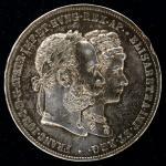 AUSTRIA Franz Josef I フランツ・ヨーゼフ1世(1848~1916) 2Florin 1879   -EF