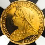 GREAT BRITAIN Victoria ヴィクトリア(1837~1901) Sovereign 1893 NGC-PF64 Ultra Cameo Proof UNC+
