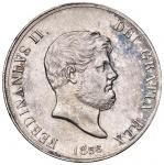 Italian coins;NAPOLI Ferdinando II (1830-1859) Piastra 1856 - Magliocca 566 AG (g 27.46) Lievemente