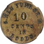 New York. 9th Regiment New York State Militia. F. Mangold. 10 Cents. Schenkman NY-9-10B (NY-D10B). R