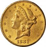 1882-CC Liberty Head Double Eagle. MS-61 (PCGS).