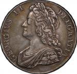 英国 (Great Britain) ジョージ2世像 1クラウン銀貨 1741年 KM575.2 / George II 1 Crown Silver