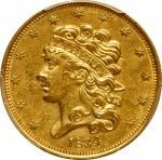1834 Classic Head Half Eagle. McCloskey-4. First Head, Large Plain 4. AU Details--Altered Surfaces (