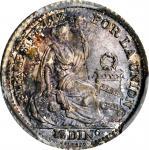 PERU. 1/2 Dinero, 1916-FG. Lima Mint. PCGS MS-67+ Gold Shield.