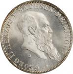 GERMANY. Saxe-Meiningen. 5 Mark, 1901-D. Munich Mint. Georg II. NGC MS-65.