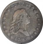 1795 Flowing Hair Half Dollar. O-102, T-26. Rarity-4. Two Leaves. VF-30 (ANACS). OH.