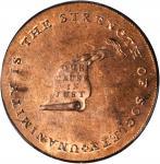 Undated (Circa 1793-1795) Kentucky Token. W-8810. Rarity-5. Copper. LANCASTER Edge. MS-64 RD (PCGS).