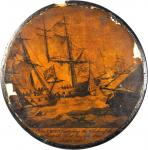 Snuff Box Commemorating Olive Hazard Perrys Victory over the British in the Battle of Lake Erie.