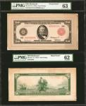 Fr. 1016a. 1914 Red Seal $50 Federal Reserve Note. Richmond. PMG Choice Uncirculated 63 & Uncirculat