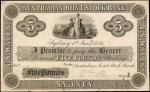 AUSTRALIA. Australian Joint Stock Bank. 5 Pounds, 1876. P-Unlisted. Proof & Artist Essay. Uncirculat