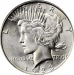 1923-D Peace Silver Dollar. MS-66 (PCGS).
