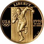 1992-W XXV Olympiad Gold $5. Proof-69 Ultra Cameo (NGC).