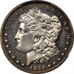 1893 Morgan Silver Dollar. Proof-62 (PCGS). CAC.