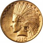 1910-S Indian Eagle. AU-58 (NGC).