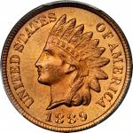 1889 Indian Cent. MS-66 RD (PCGS). CAC.