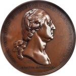 1776 (1890-1910) Washington Before Boston Medal. Philadelphia Mint Fourth Restrike. Dark Bronze. 68