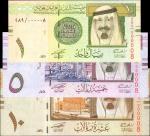 2007年沙特阿拉伯中央银行1, 5 & 10里亚尔。序号8。Choice Uncirculated.