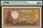South African Reserve Bank, £10, 19 April 1943, serial number F/2 897974, brown on multicolour under