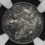 FRANCE 3rd Rep 第三共和政(1870~1940) 50Centimes 1888A  NGC-MS63 UNC