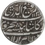 MUGHAL: Rafi-ud-Darjat, 1719, AR rupee 4011。14g41, Kora, AH1131 year one 40ahad41, KM-405。12, rare m