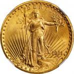 1911 Saint-Gaudens Double Eagle. MS-65 (NGC).