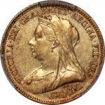 1900-S英国半索维林金币,悉尼造币厂,PCGS AU Detail,有清洗