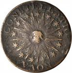 1783 Nova Constellatio Copper. Crosby 2-B, W-1865. Rarity-2. CONSTELLATIO, Pointed Rays, Small U.S.