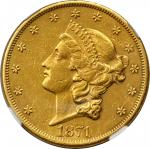 1871-CC Liberty Head Double Eagle. AU Details--Improperly Cleaned (NGC).