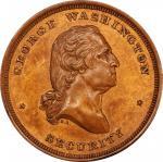 Circa 1859 Sommer Islands Ship medal by Robert Lovett, Jr. Musante GW-260, Baker-616. Copper. MS-64