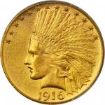 1916-S Indian Eagle. MS-61 (PCGS).