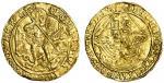 Henry VIII (1509-47), Angel, third coinage, 5.08g, mm. lis, henric?8 d?g?agl?fra?z hib?rex, trefoil
