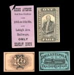 1901 Pan-American Exposition Souvenir Tickets and More. Souvenir Tickets(3), All AU or so, one with