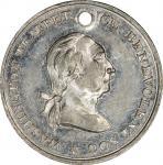 Circa 1847 Temperance Fountain medalet. Musante GW-171, Baker-331. White Metal. MS-62 (PCGS).