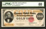 Fr. 1215. 1922 $100 Gold Certificate. PMG Extremely Fine 40.