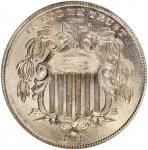 1868 Shield Nickel. FS-903. Reverse of 1868, Variety 3. MS-65 (NGC).