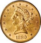 1880 Liberty Head Eagle. MS-62+ (PCGS).