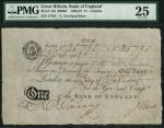 Bank of England, Abraham Newland (1778-1807), 」1, London 23 February 1805, manuscript serial number