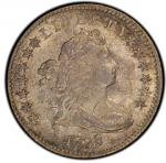 1798/7 Draped Bust Dime. John Reich-2. Rarity-6. 13 Star Reverse. Mint State-63 (PCGS).PCGS Populati